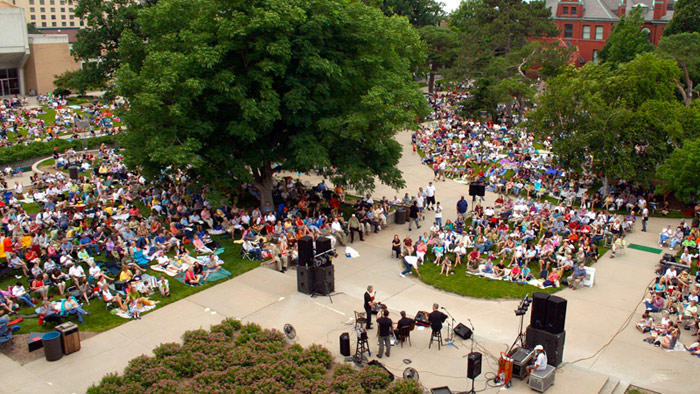 Jazz in June on the Sheldon Museum of Art Greenspace