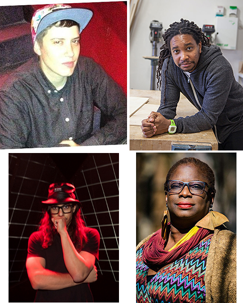 Complex Movements:  (clockwise from upper left) Invincible/Ill Weaver, Wesley Taylor, Sage Crump and L05 (Carlos Garcia).