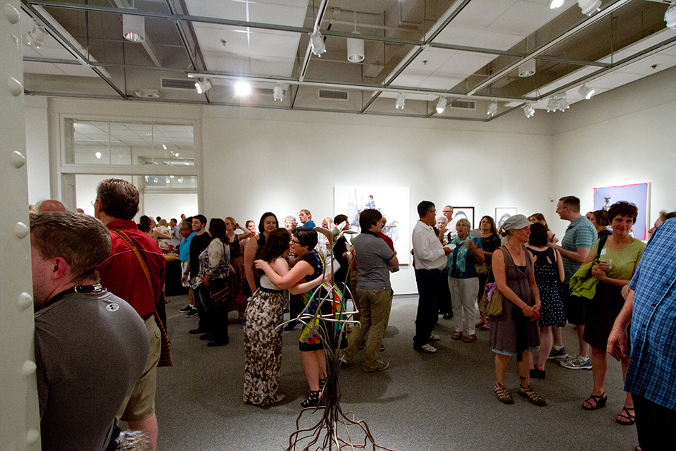 Photo of the Nebraska National reception at the Eisentrager-Howard Gallery