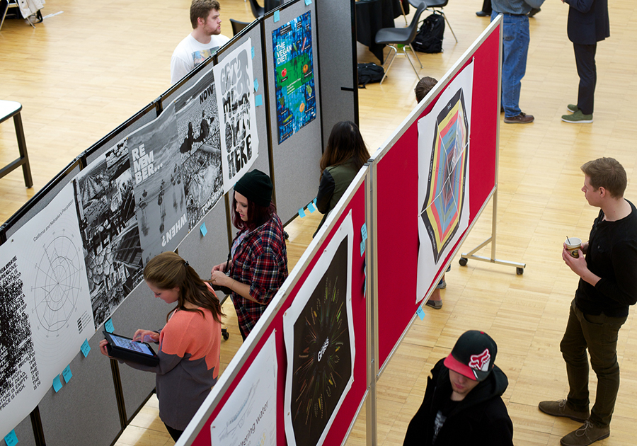 Advanced Graphic Design students present their work in a small exhibit and through the publication of a zine at the 40th annual Center for Great Plains Studies Symposium