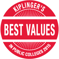 Kiplinger's - Best Value's in Public Colleges 2013 seal