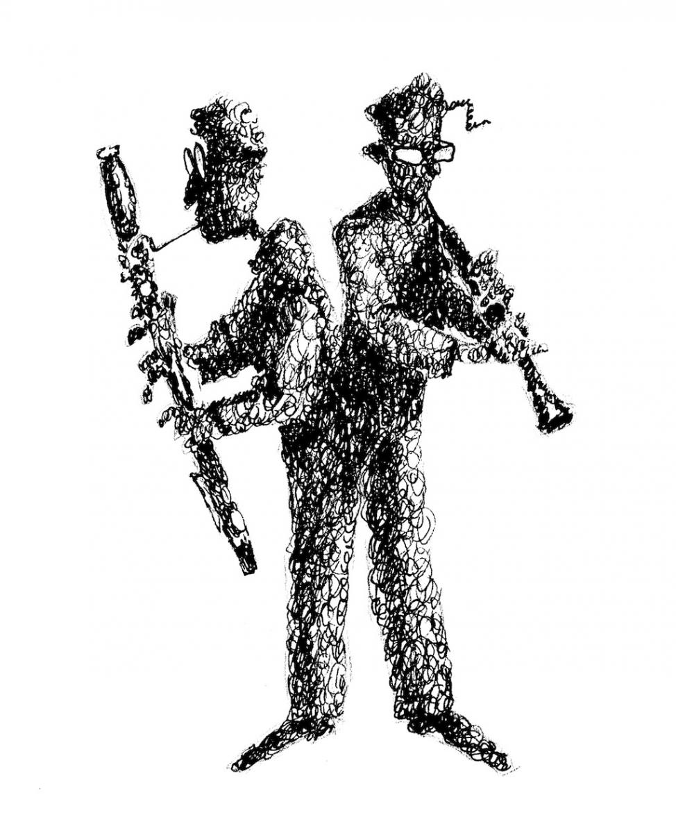 Double-reed logo