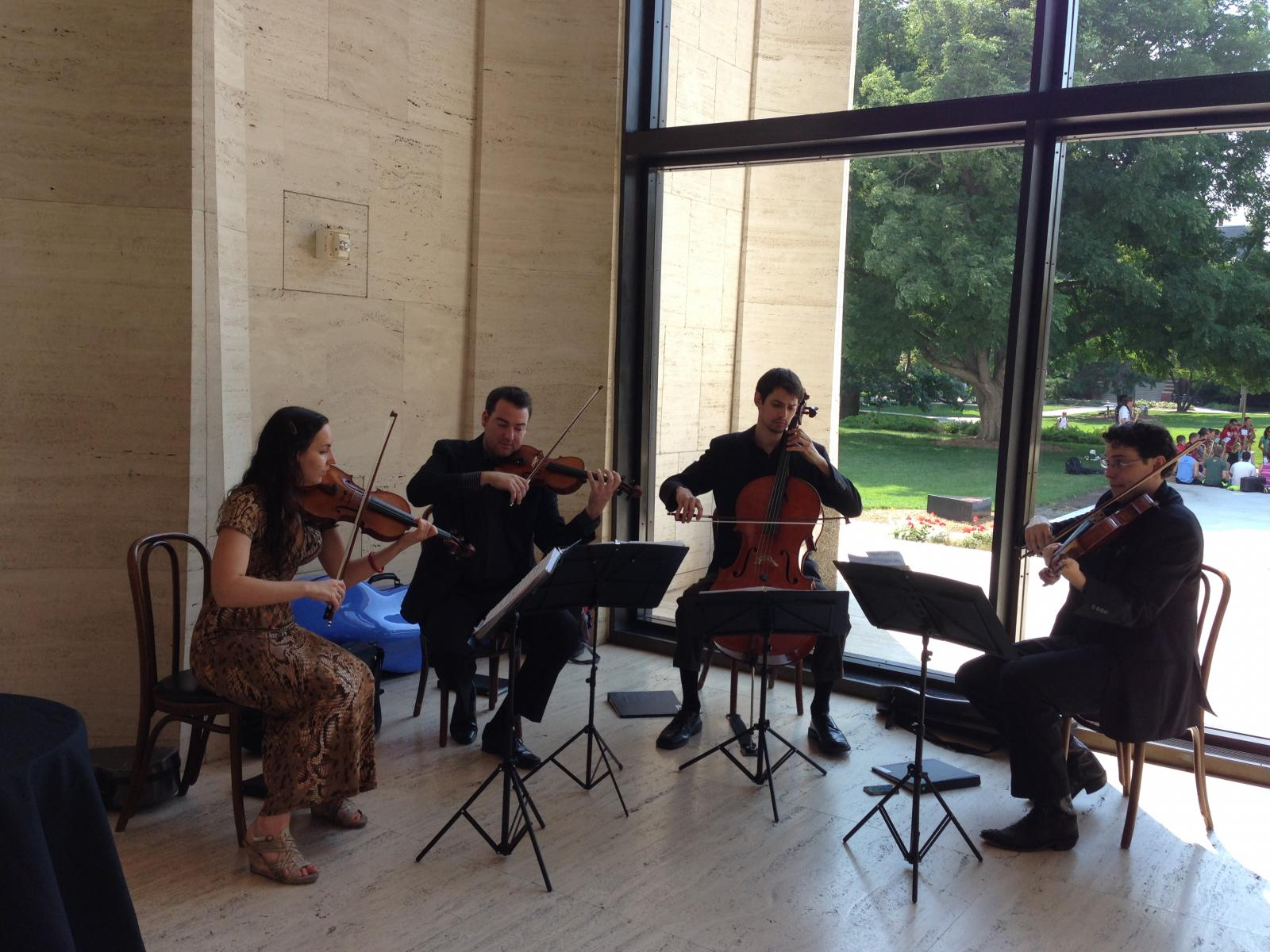 Skyros Quartet performing at the Sheldon Gallery