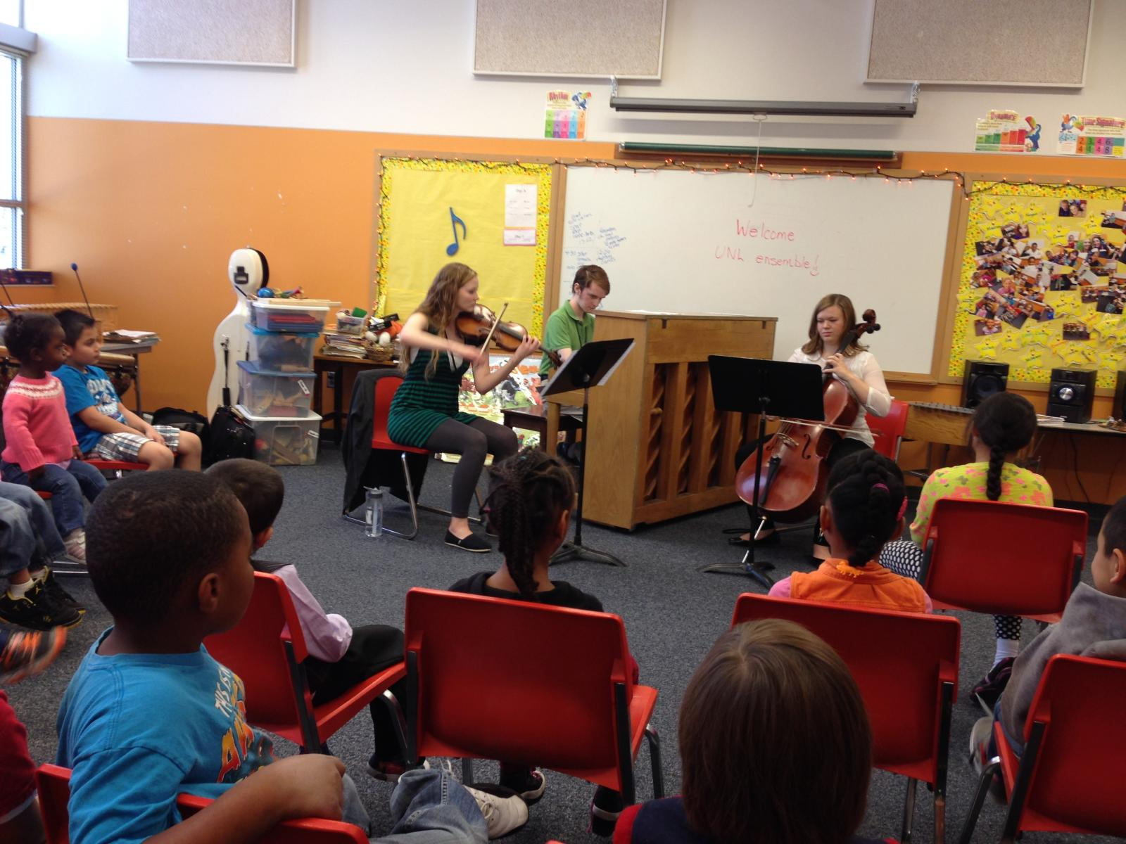 Chamber music group outreach