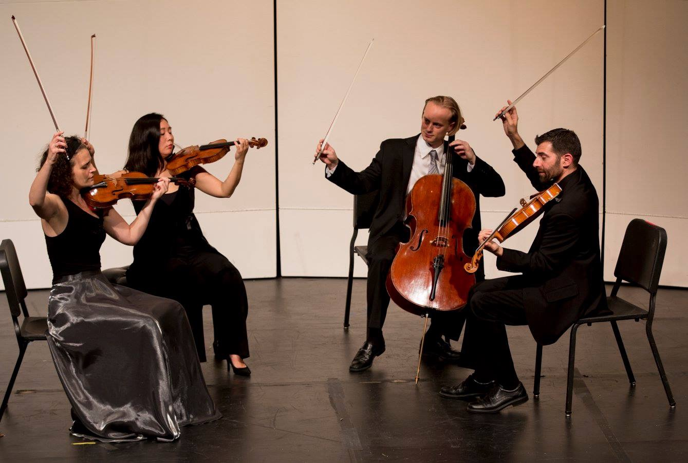 Chiara Quartet performing in Kimball Recital Hall