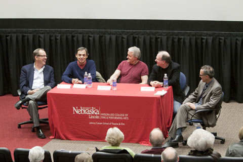 Photo of first Johnny Carson Lecture participants