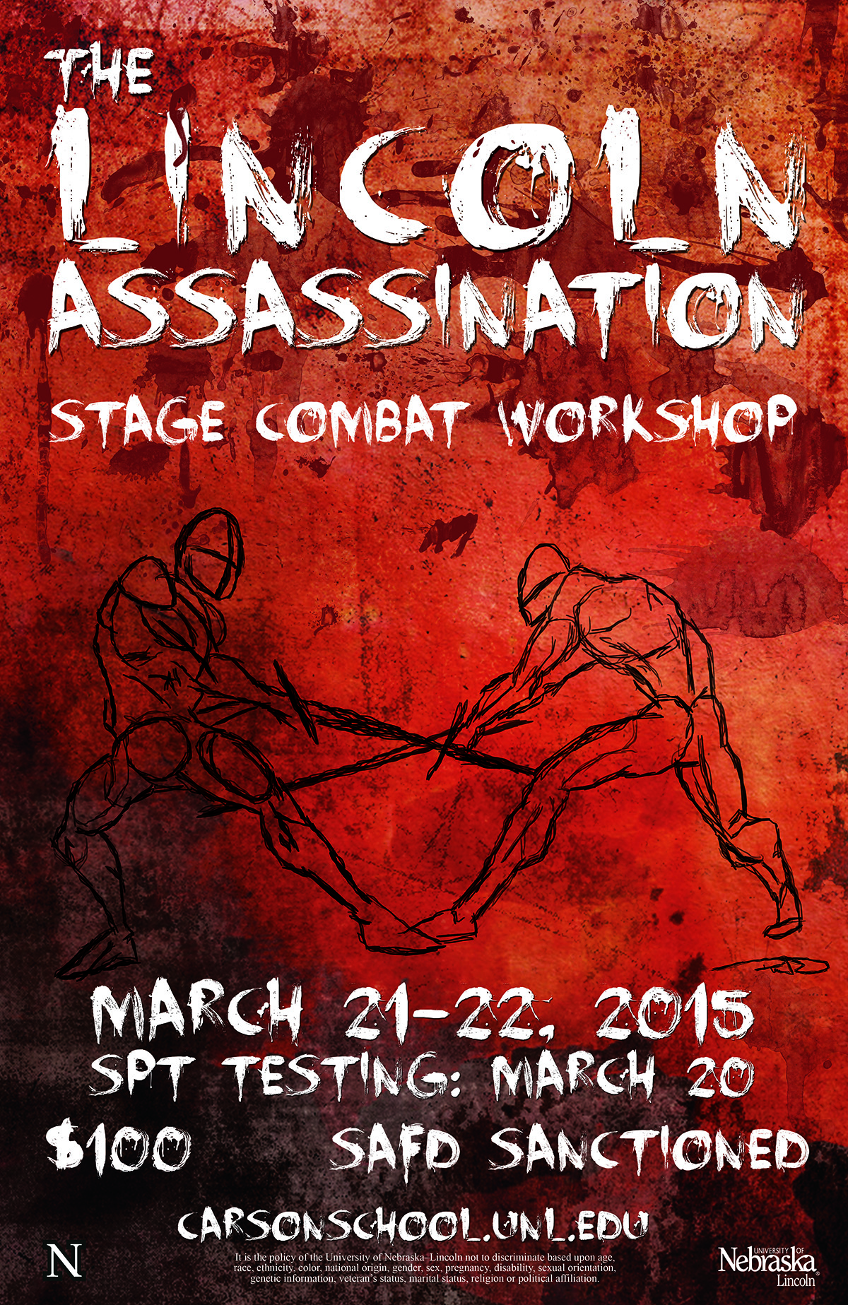 Carson School Stage Combat poster