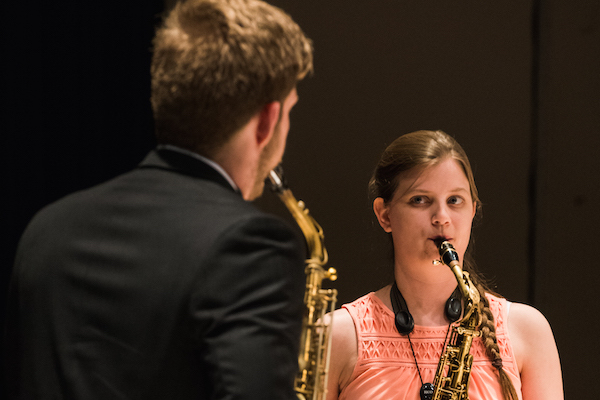Saxophone Duet in Westbrook Recital Hall