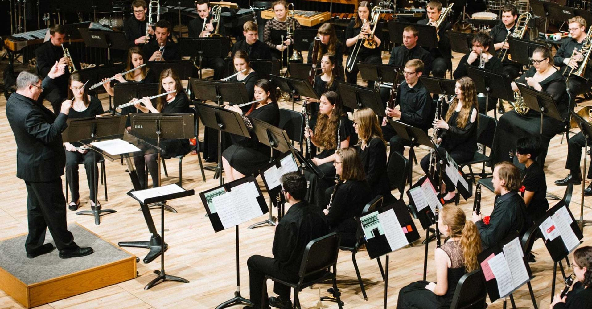 Symphonic Band Performing at Kimball Recital Hall