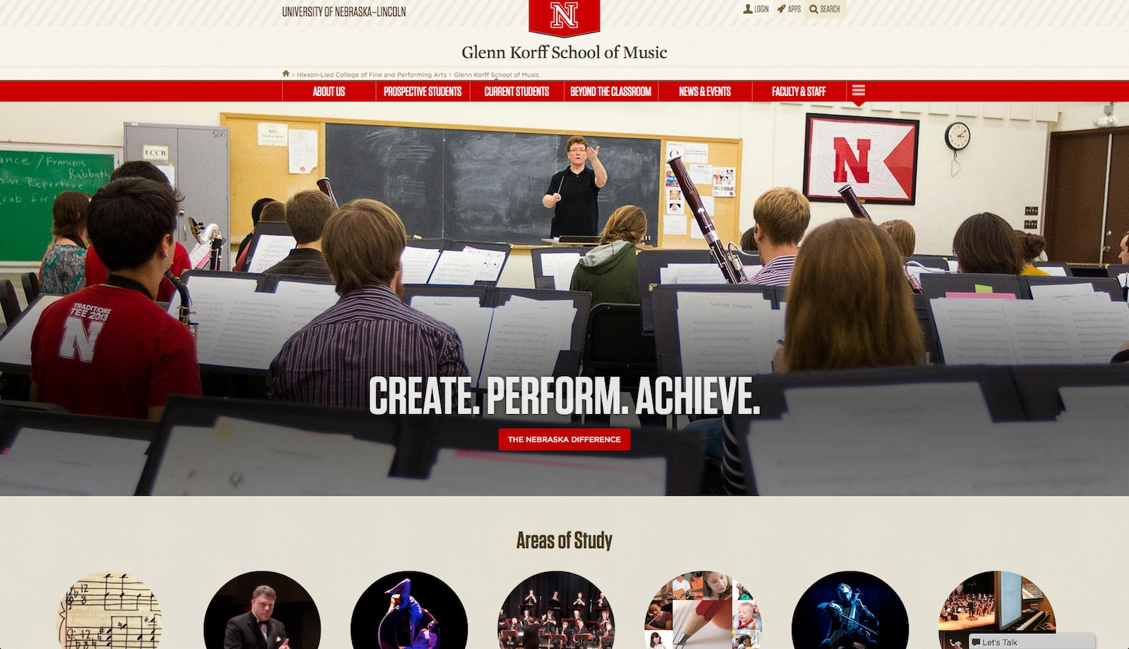 Glenn Korff School of Music New website