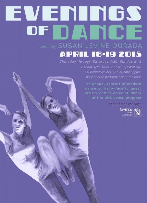 Evening of Dance poster for Spring 2015