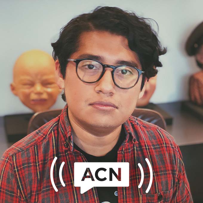 Portrait of Bonito Sanchez with ACN logo