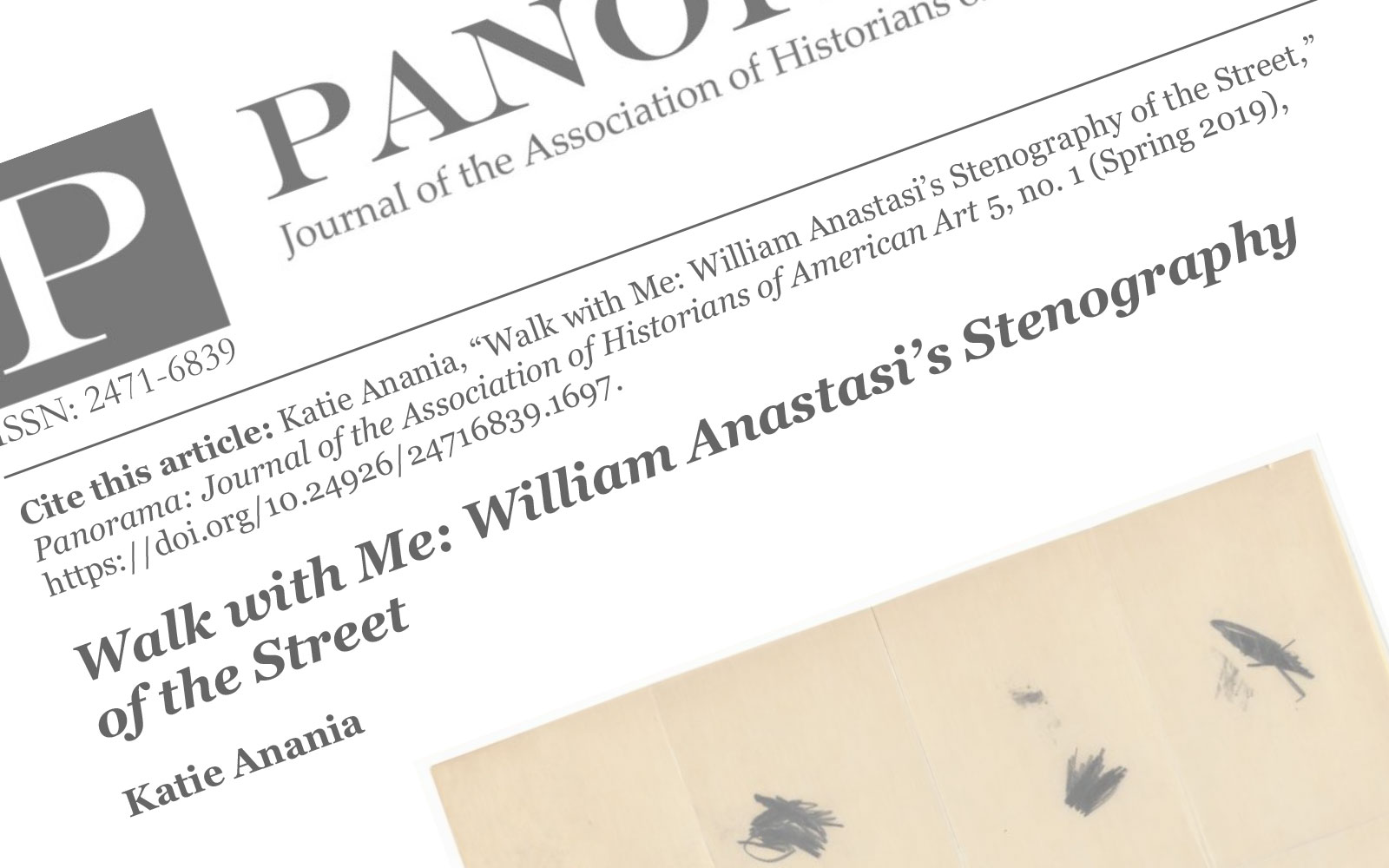 """Screencap of Ananai's article """"Walk With Me"""" published on Panorama"""