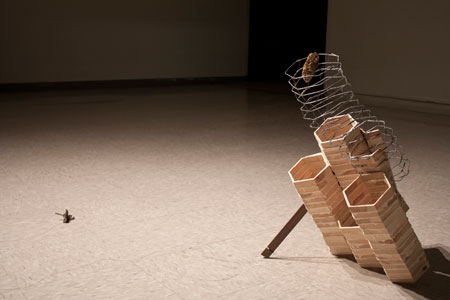 Tanner Young's sculpture 'What's Left of Navarro County,' 2011.