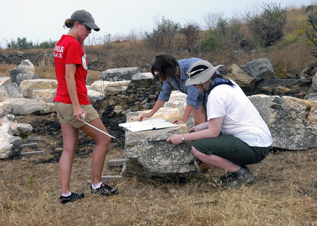 Block Documentation at the Antiochia ad Cragum Archaeological Field School in southern Turkey.
