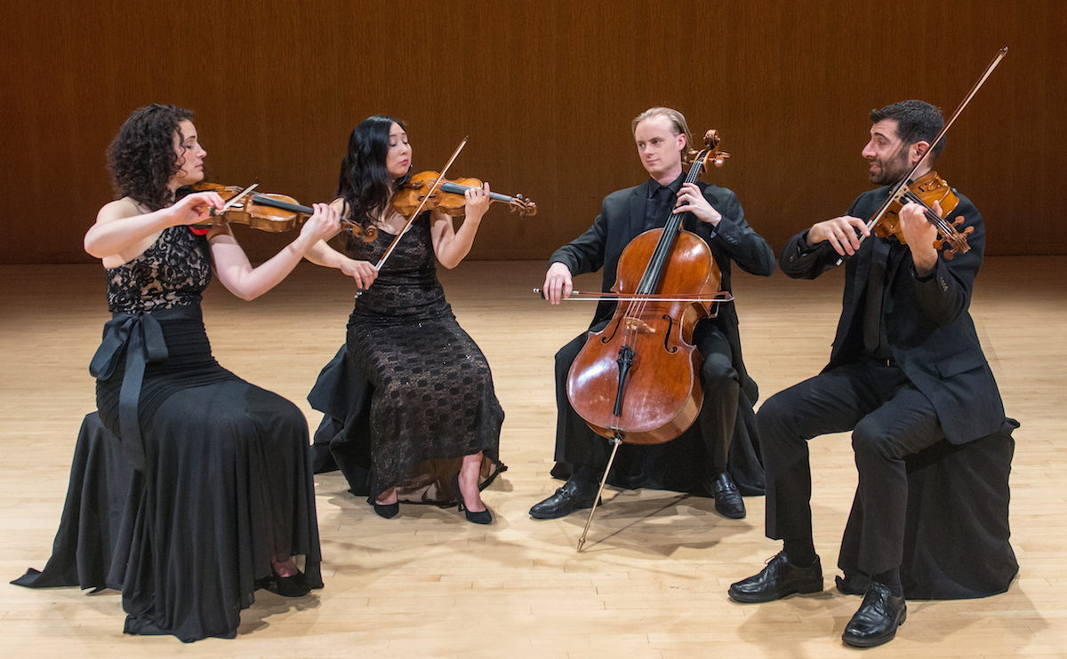 Chiara String Quartet playing at the MET
