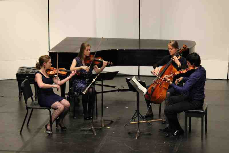 Chamber group performing on Kimball Hall Stage
