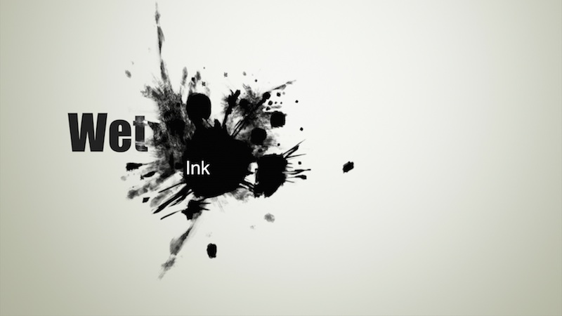 Wet Ink Image