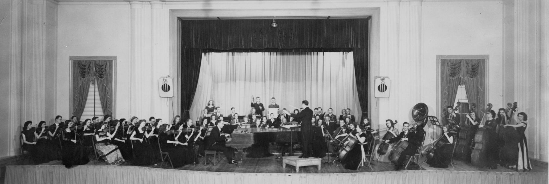 Band on the stage in the Union 1900's