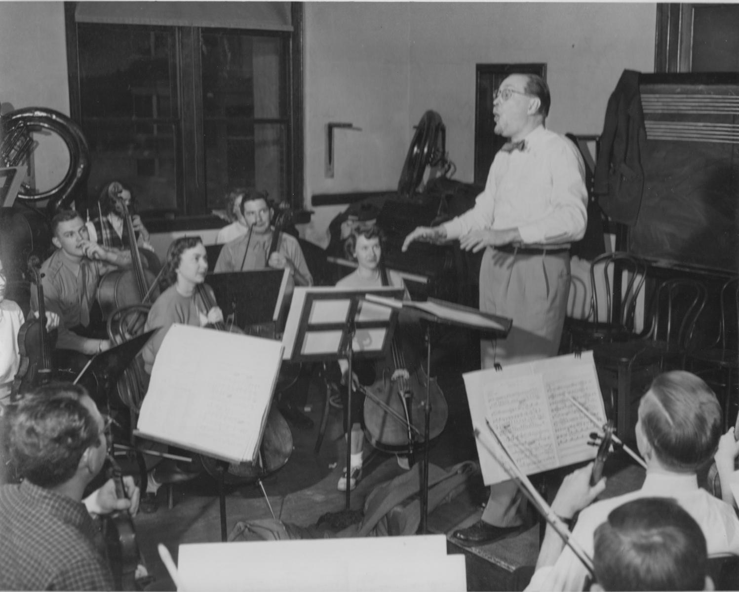 Music classes at the conservatory