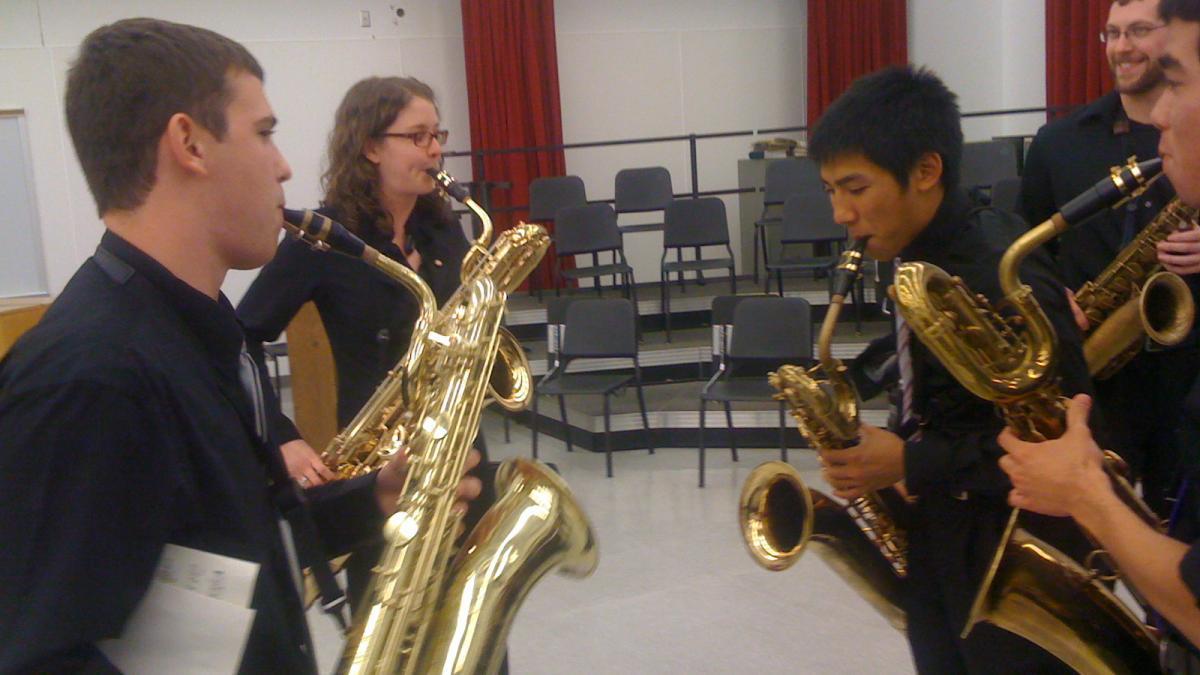 student sax quartet
