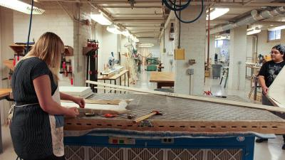 Image of the Wood Shop in Richards Hall