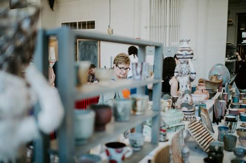 The Clay Club Sale and Print Sale are Dec. 13-14 in Richards Hall. Support the work of talented student artists by purchasing their most recent work. Photo by Justin Mohling.
