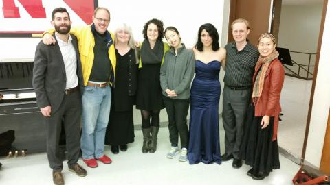 Chiara String Quartet, Catherine Herbener, Hans Sturm, Ye-Eun Lyla Cho and Maya Abboud