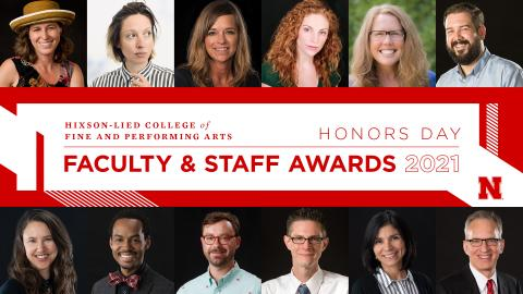 The Hixson-Lied Faculty and Staff Awards recognize outstanding performance and accomplishments in the areas of teaching; research and creative activity; faculty service, outreach and engagement; outstanding lecturer; and staff service.