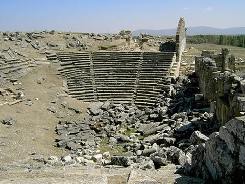 A theater excavated at Aezanis.