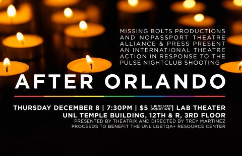 "Theatrix presents ""After Orlando"" on Dec. 8 in the Lab Theatre."