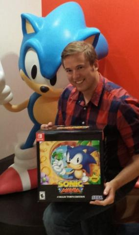 Brad Flick on release day for Sonic Mania.