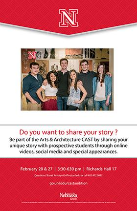 An opening casting event will be held to select the new Arts & Architecture Cast on Feb. 20 and 27.