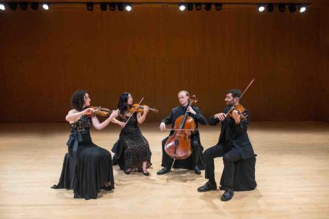 Chiara String Quartet in performance