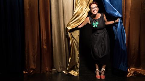 Megan Elliott is a mentor at the Berlinale Talents summit in Berlin. Photo by Wyn Wiley/Nebraska Quarterly.