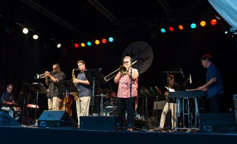 The UNL Faculty Jazz Ensemble performs at the Montreux International Jazz Festival. Photo by Dominique Schreckling.