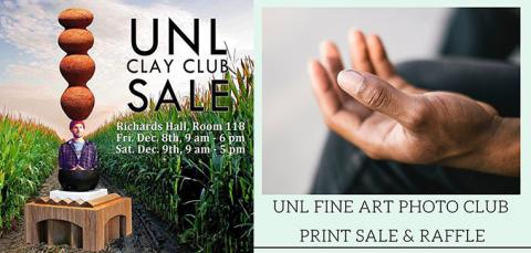 The Clay Club and the Fine Art Photo Club will have their fall sales Dec. 8-9 in Richards Hall.