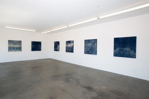 "Jesse Fleming's ""NUCLEI"" on display at Five Car Garage in Santa Monica, California."