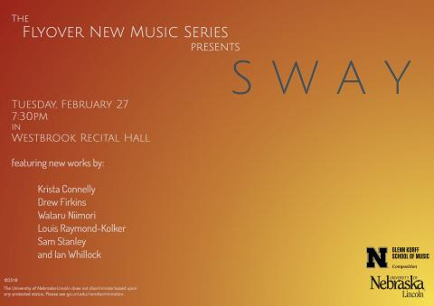The Flyover New Music Series' Sway poster