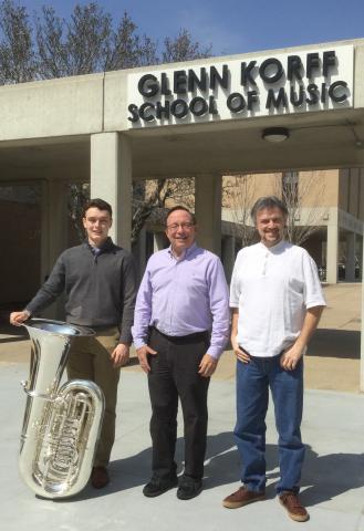 (from left) Ethan Millington, Craig Fuller and Rubén Darío Gómez