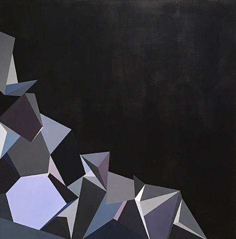 "Zoe Gengenbach, Raven, acrylic on canvas, 36"" x 36"", 2015"