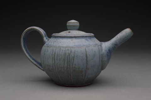 "Mitch Hilzer, Teapot, Earthenware and glaze, 6"" x 10"" x 10"", 2017."