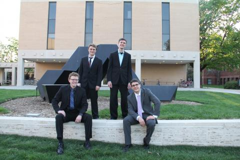 The Jazz Combo group includes Eric Hitt, Nicholas Johnson, John Kosch and Luke Thallas