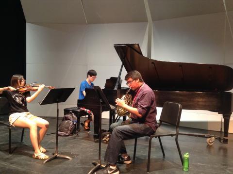 Onyx Trio  Sarah Ng, Violin; Yongwhi Lee, Piano; Miguel Villarreal, Horn