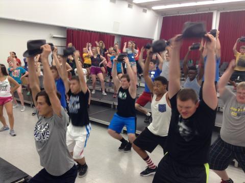Nebraska Show Choir Camp rehearsal