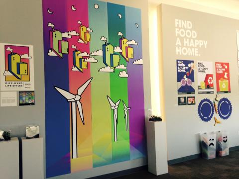 Advanced Graphic Design and Typography II classes from the Department of Art and Art History created an exhibition to run concurrently with the Water for Food Institute's Global Conference.
