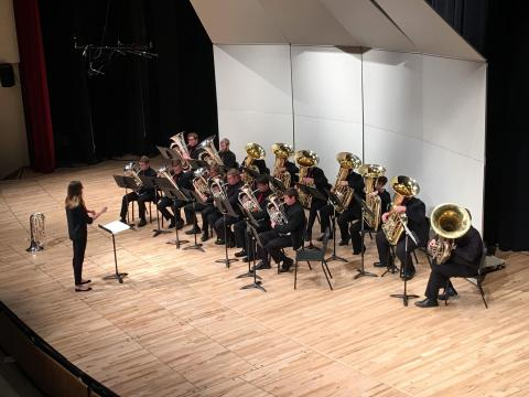 Large Brass Ensembles perform at Kimball Recital Hall