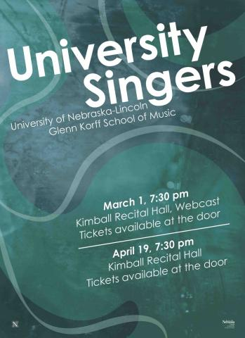 The University Singers will perform at New York City's Carnegie Hall on March 28.