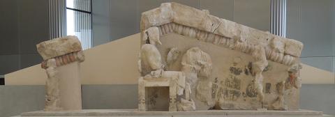 Temple pediment, Athenian Acropolis, 6th century B.C.