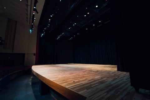 Kimball Recital Hall Floor and Orchestra Pit